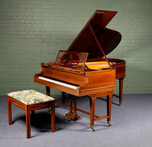 A mid-20th century mahogany-cased 6ft grand piano, by C. Bechstein, Frame No. 102734, the timber frame marked with the number 41077 (2)