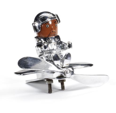 A good Hassall 'Aviator' mascot, British, 1930s,