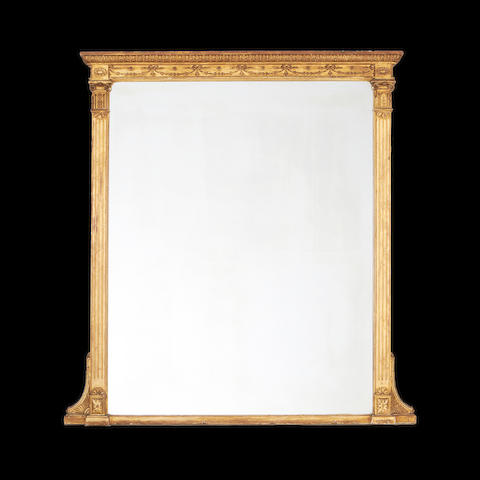 A Victorian giltwood overmantel mirror in the George III style