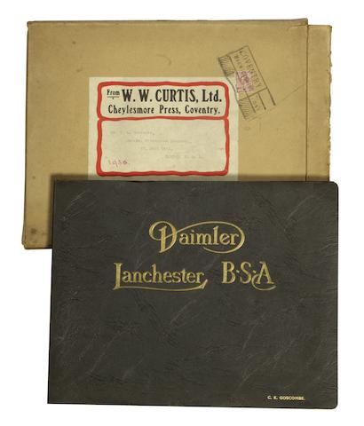 A Daimler-Lanchester-BSA sales manager's portfolio,