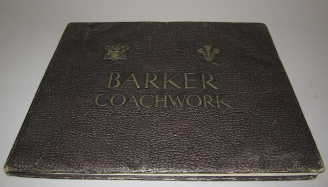 A Barker & Co (Coachbuilders) Ltd, deluxe catalogue 1928,