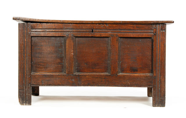 A 19th Century oak coffer,