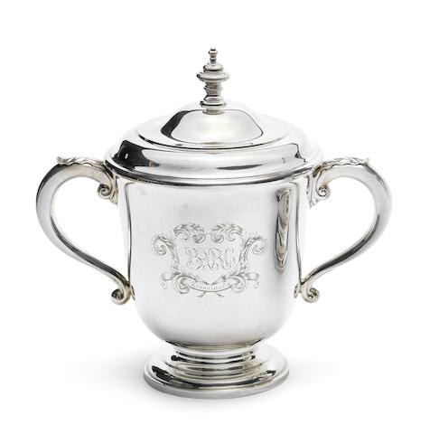 A 1922 BARC Brooklands 100mph Short Handicap winner's silver trophy,