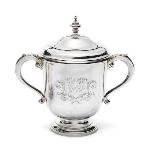A 1922 BARC Brooklands 90mph Long Handicap winner's silver trophy,