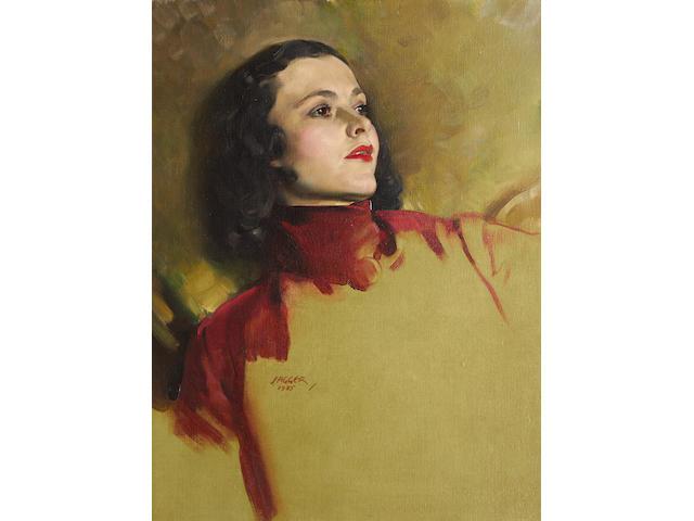 David Jagger R.O.I. (British, 1891-1958) 'Ruby'