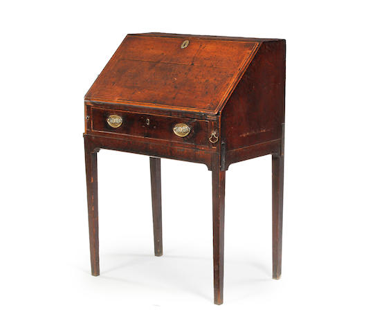 A George III oak standing desk
