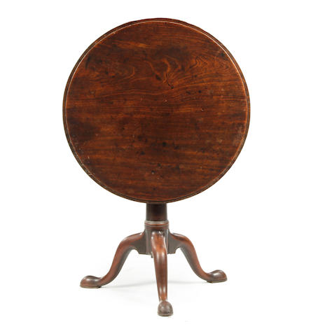 A George II mahogany tripod table