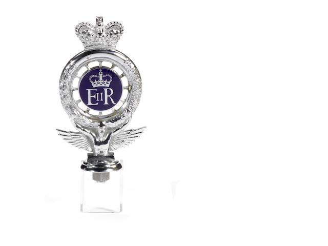 A 'Royal' RAC car badge for Queen Elizabeth II, post 1952,