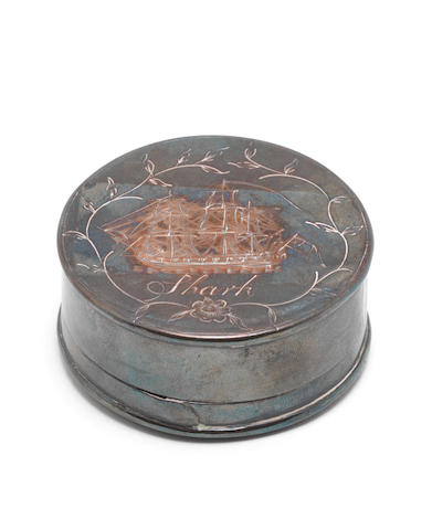 An early 19th century Sailor's commemorative patch box.