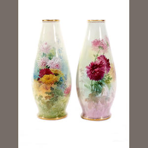 A pair of Minton vases, circa 1880