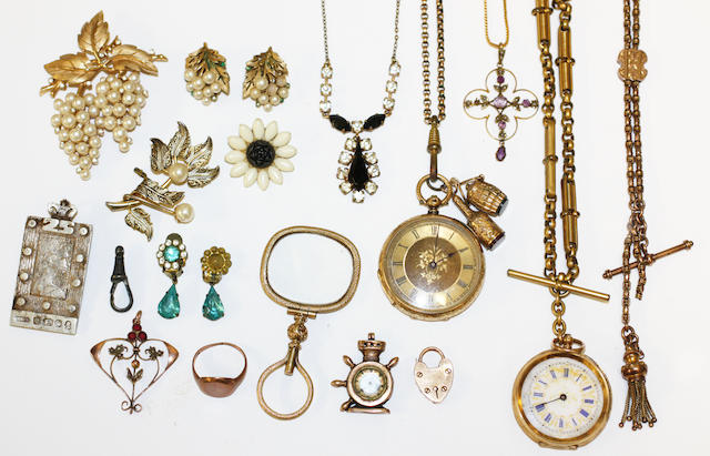 A large collection of jewellery and watches,
