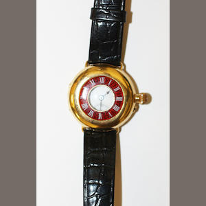 An 18ct gold half hunter watch,