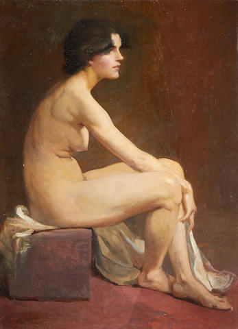 Glyn Warren Philpot (British, 1884-1937) Portrait of a female nude
