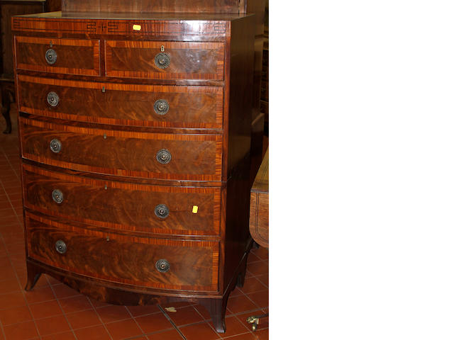 A George IV mahogany bowfront chest