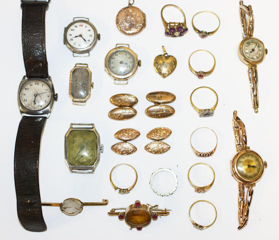 A collection of jewellery and watches, (22)