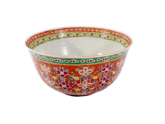 A famille rose Becharong bowl, 19th century