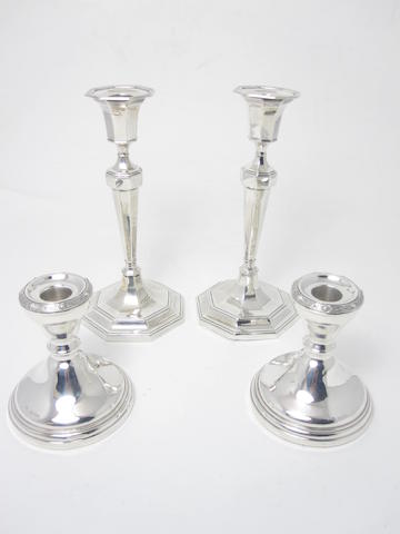 Two pairs of candlesticks