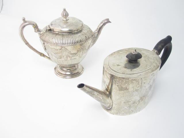 A Victorian bachelor's silver teapot by Bradbury & Henderson, London 1880