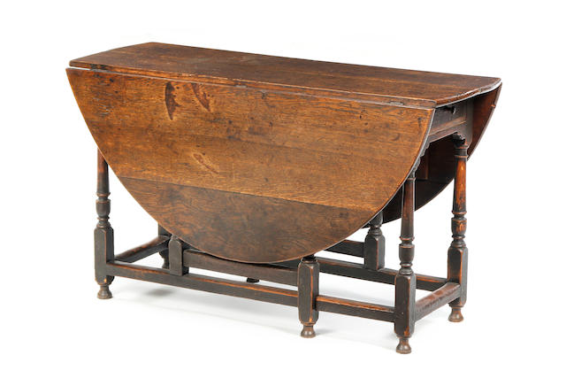 CHESTER:  Late 17th Century oak gateleg table