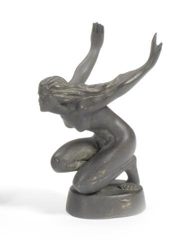 A Straker-Squire Kneeling Goddess mascot, 1920's,