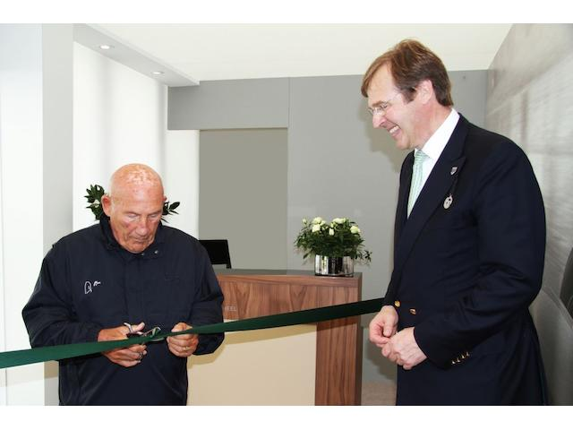Sir Stirling Moss and Robert Brooks at the launch of the Steering Wheel Club