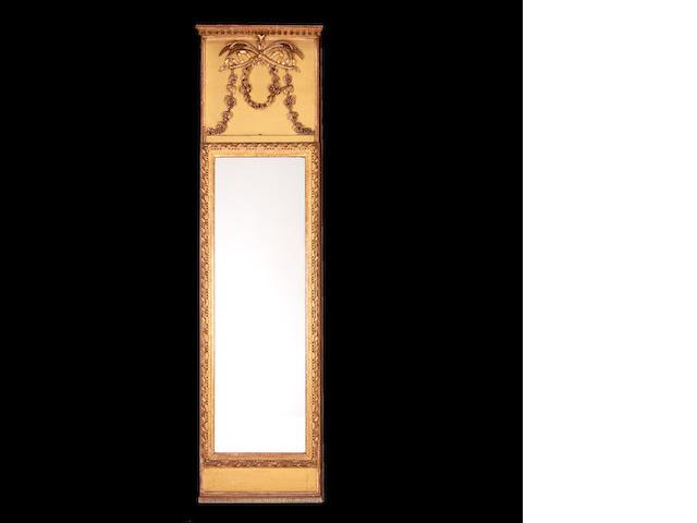 A Scandinavian mid 19th century giltwood pier mirror