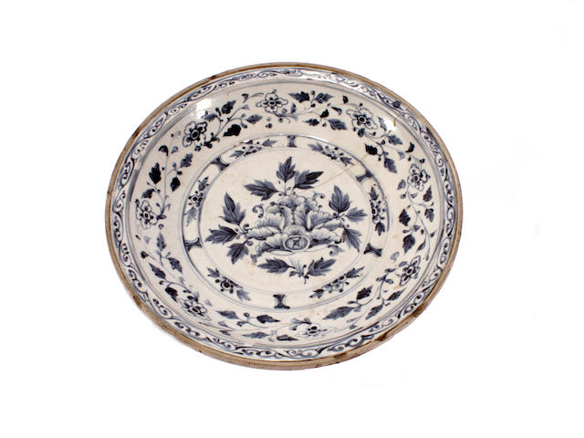 An Annamese blue and white dish
