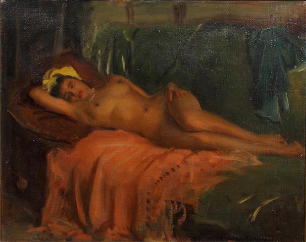 Cowan Dobson, RBA (British, 1893-1980) Reclining female nude