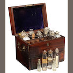 A mahogany medicine chest,  English,  first quarter of the 19th century,