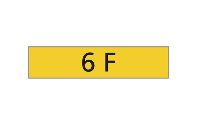 Registration Number '6 F',