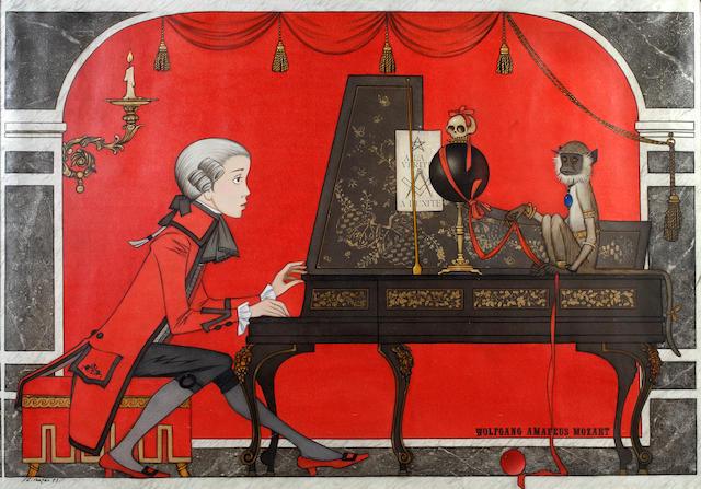 Philippe Henri Noyer (French, 1917-1985) Wolfgang Amadeus Mozart