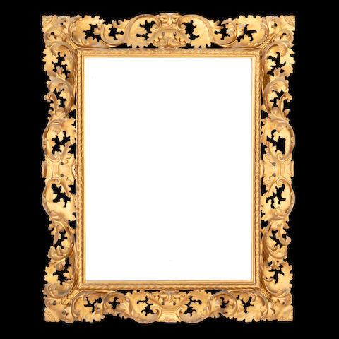 A Florentine 19th century giltwood mirror