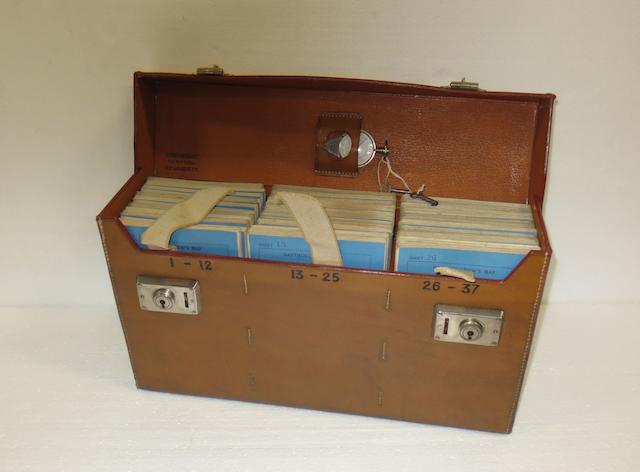 An Edwardian leather-cased set of Bartholomew's road maps for England & Wales,