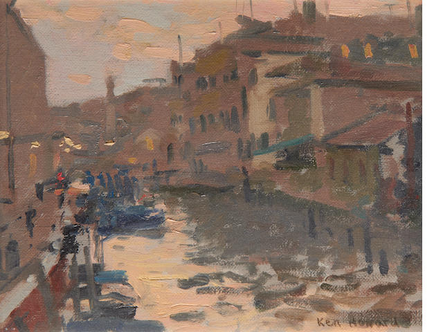 Ken Howard R.A. (British, born 1932) Grande Canal, Venice