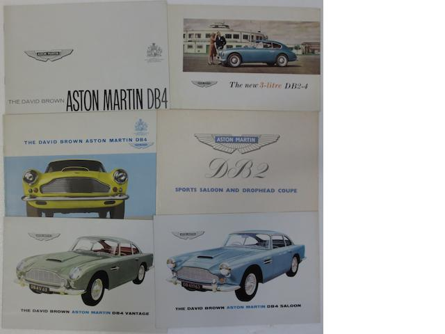 Four Aston Martin sales brochures,