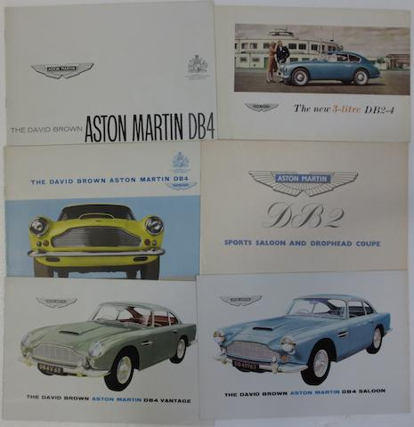 Four Aston Martin sales brochures,