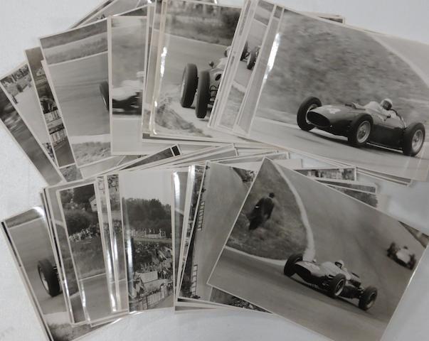 A quantity of 1960 and 1961 Belgian Grand Prix original press photographs,