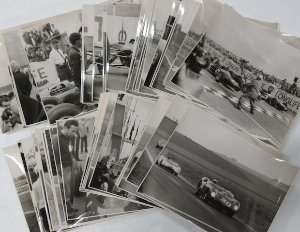 A quantity of mainly early 1960s motor racing original press photographs,