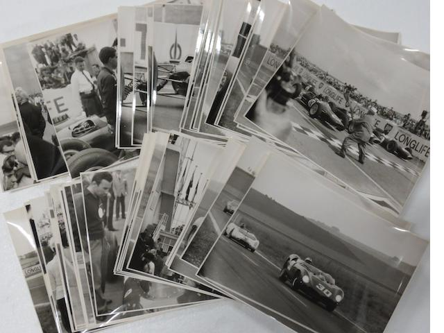 A quantity of mainly early 1960s motor racing original press photographs,