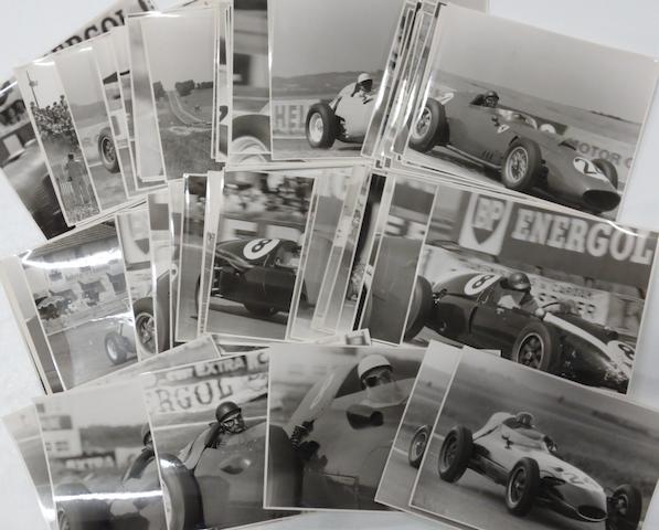 A quantity of 1958 and 1959 French Grand Prix original press photographs,
