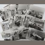 A quantity of 1958 and 1959 French Grand Prix original press photographs,