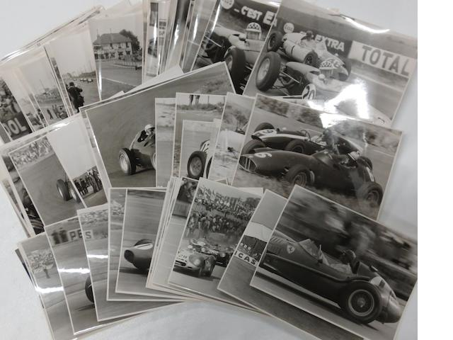 A quantity of 1958, 1959 and 1960 Grand Prix original press photographs,