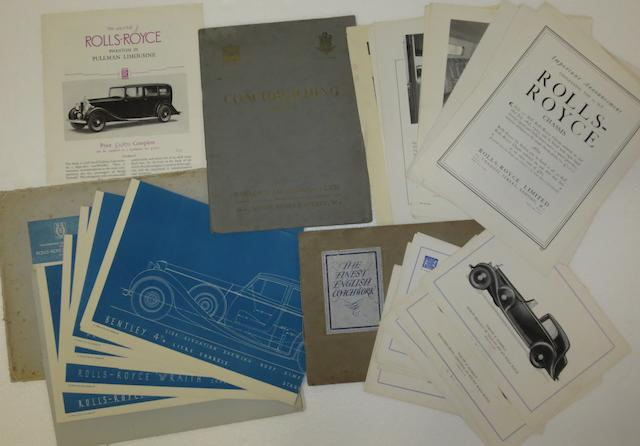 A folder of H R Owen coachwork designs, 1938,
