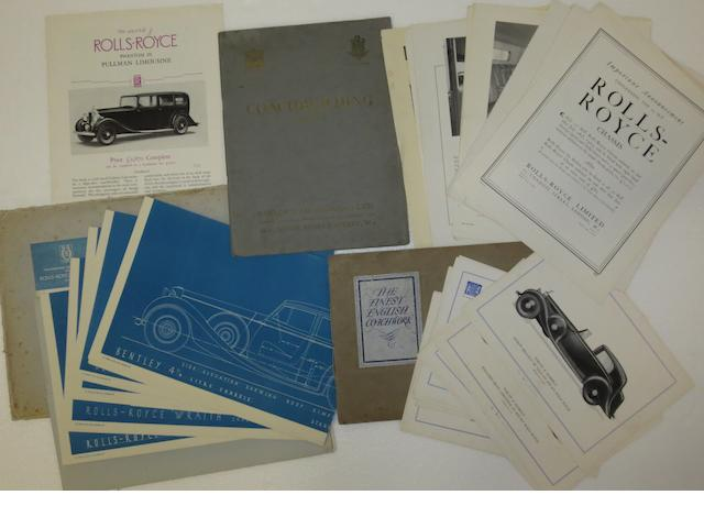 A folder of H R Owen coachwork designs, 1938,