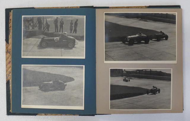An album of pre-War motor racing photographs,