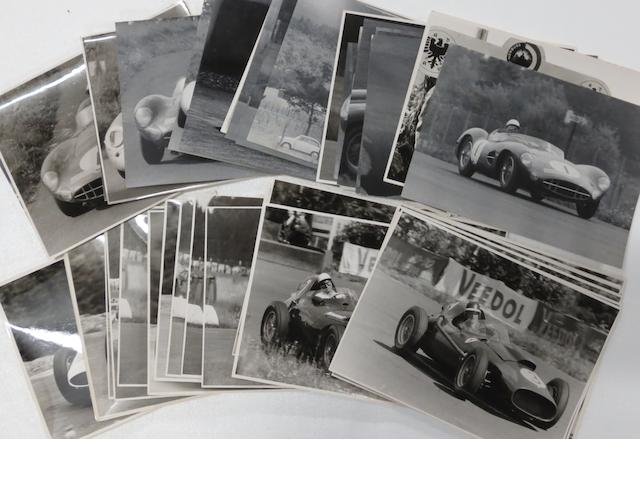 A quantity of original press photographs of the 1958 Nurburgring Grand Prix and 1,000Km races,