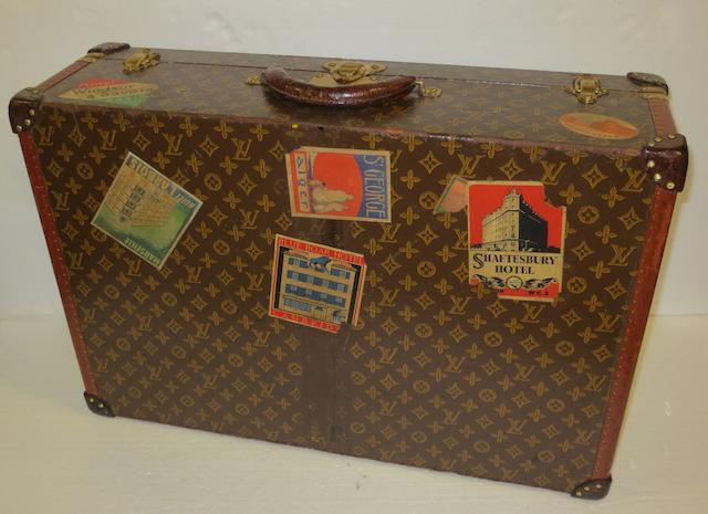 A Louis Vuitton suitcase, 1940s,