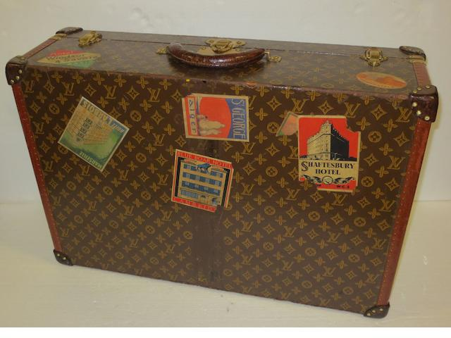 A Louis Vuitton suitcase, 1940s,