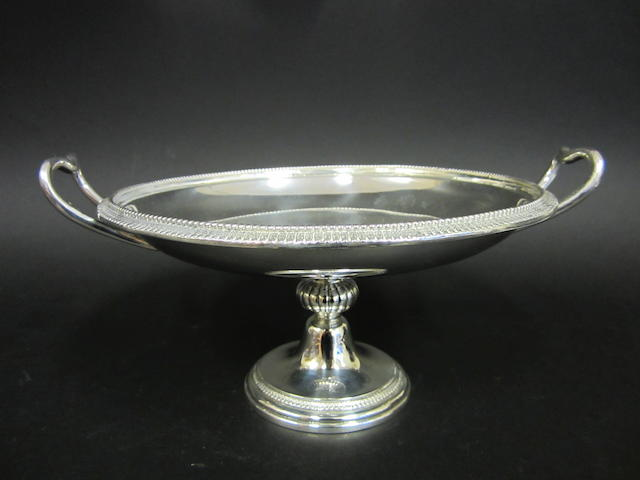 A Victorian silver two handle pedestal bowl by Stephen Smith, London 1868