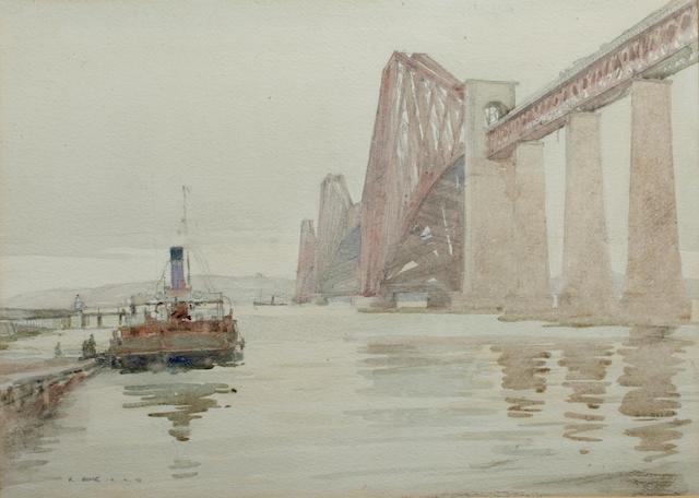 Robert Eadie, RSW (British, 1877-1954) The Forth Bridge